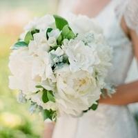 White Peony Garden Bouquet