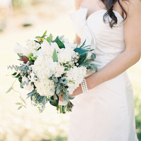 White Boho Chic Bouquet