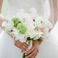 White Bouquet with Green Accents