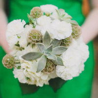 Carnation and Scabiosa Bouquet