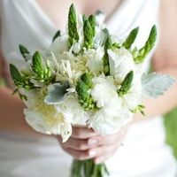 Unique Green and White Bouquet