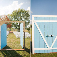 Blue Barn Ceremony Door