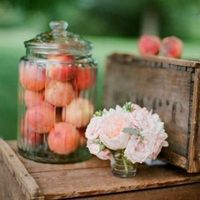 Peaches in Apothecary Jar