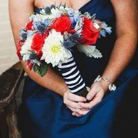 Striped Bouquet Wrap