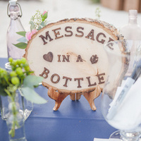 Carved Message in a Bottle Signage