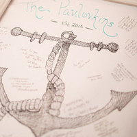 Anchor-Themed Guest Book