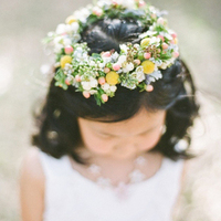 Chic and Rustic Flower Girl Hair Wreath