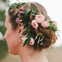 VIntage Romantic Floral Hair Wreath