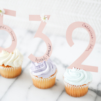 DIY: Escort Card Cupcake Favors