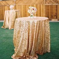 Gold Sequin Cocktail Tables