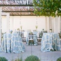 Blue and White Cocktail Tables