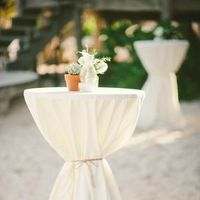 Flowers & Decor, white, ivory, Reception Decor, Beach Wedding Flowers & Decor, Spring Wedding Flowers & Decor, Summer Wedding Flowers & Decor, Linens, Table linens, cocktail tables, tables and seating, cocktail receptions