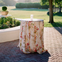 Floral Patterned Cocktail Table