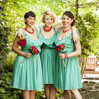 Bridesmaids in Teal