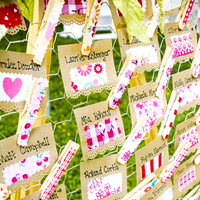 Fabric Escort Cards