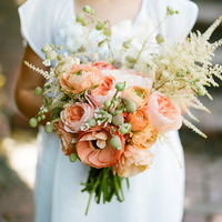 Peach Flower Girl Bouquet