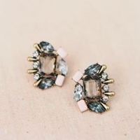 Colored Gem Stud Earrings