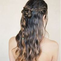 Boho Braid Half-Updo