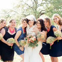Bridesmaids in Navy Blue