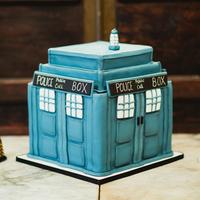 Police Call Box Cake