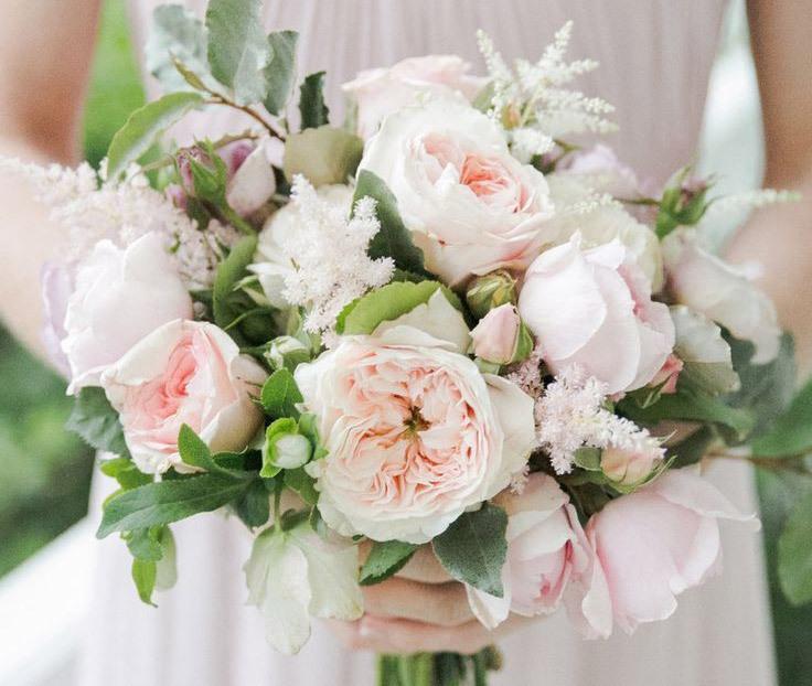 Pale Pink Wedding Flower Bouquets