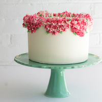 DIY: Piped Flower Cake