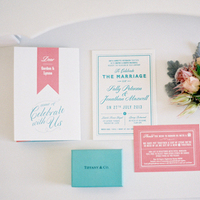Preppy Pink and Blue Invitation
