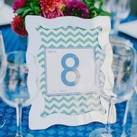 Chevron Table Number