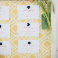 Preppy Escort Card Display
