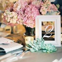 Table Number Mirror