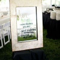 Rustic Mirror Menu Display