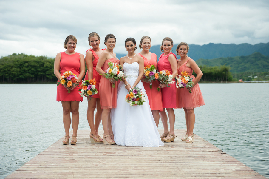 Good Tropical Color Bridesmaids Dresses Wedding Dress Ideas With Bridesmaid