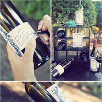 A Personalized Wine Guest Book