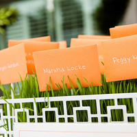 Stationery, orange, Garden Wedding Invitations, Place Cards, Escort Cards