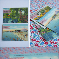 Vintage Postcard Place Cards