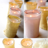Silk-Wrapped Votive Candles