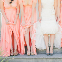 Cotton Candy Pink Bridesmaids Dresses