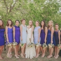 Shades of Purple Bridesmaids Dresses