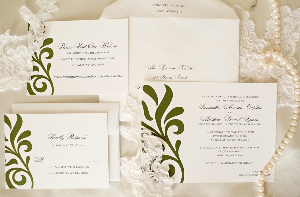 Green Swirl Invites