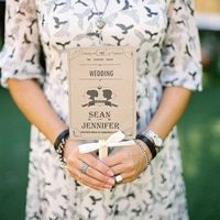 Kraft Paper Fan Ceremony Programs