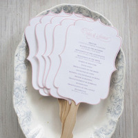 Scalloped Fan Ceremony Programs