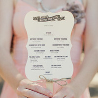 Happily Ever After Fan Ceremony Programs