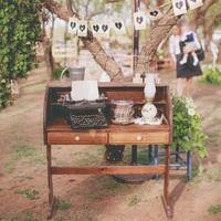 Rustic Vintage Welcome Desk