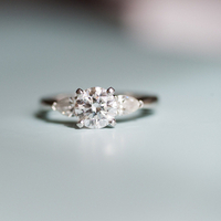 Three-Stone Round Engagement Ring