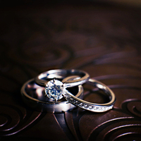 Silver Round Engagement Ring