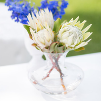 White Protea Centerpiece