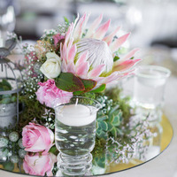 Protea and Rose Centerpiece