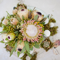Proteas and Greenery