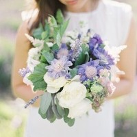 Purple Pincushion Bouquet