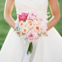 Pink and Peach Bouquets